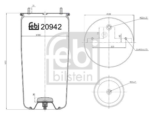Měch - pneumatické odpružení FEBI BILSTEIN 20942