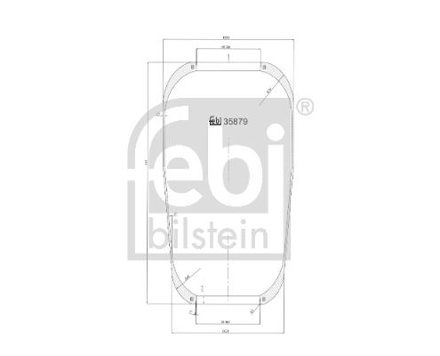 Měch - pneumatické odpružení FEBI BILSTEIN 35879