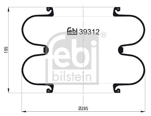 Měch - pneumatické odpružení FEBI BILSTEIN 39312