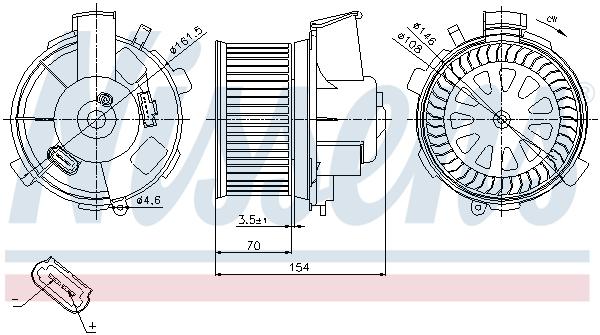 vnitřní ventilátor NISSENS 87021