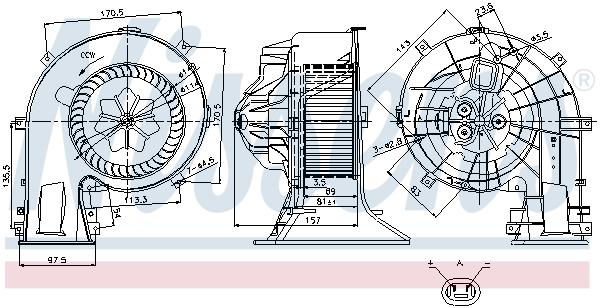 vnitřní ventilátor NISSENS 87025