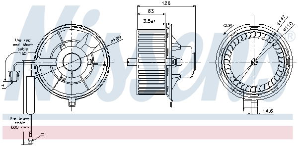 vnitřní ventilátor NISSENS 87031