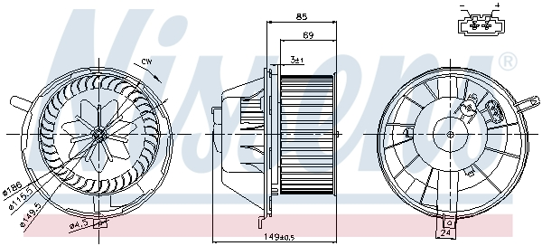 vnitřní ventilátor NISSENS 87034