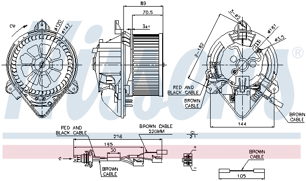 vnitřní ventilátor NISSENS 87042