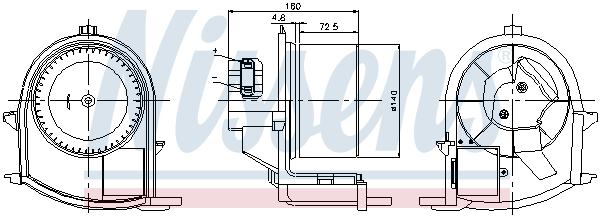 vnitřní ventilátor NISSENS 87047