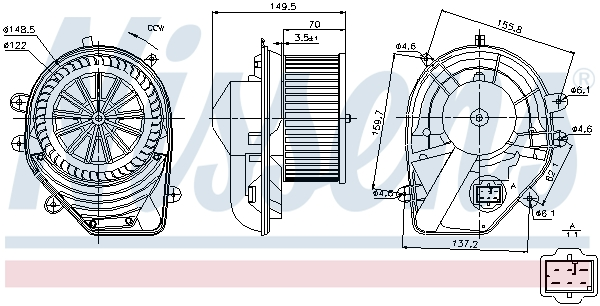 vnitřní ventilátor NISSENS 87060