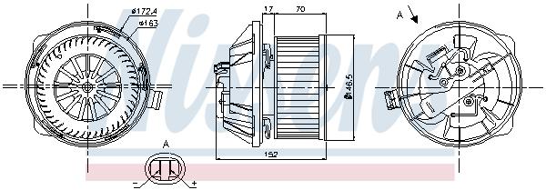 vnitřní ventilátor NISSENS 87065