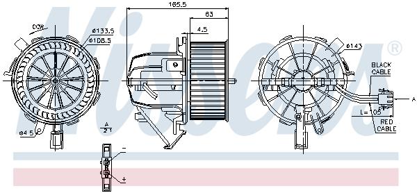 vnitřní ventilátor NISSENS 87075