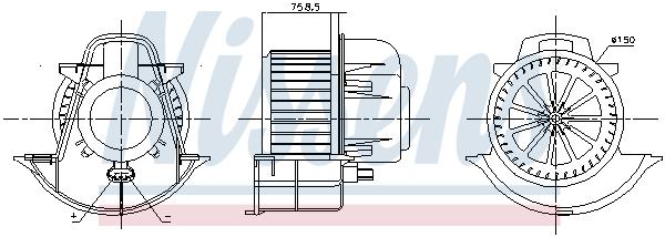 vnitřní ventilátor NISSENS 87076