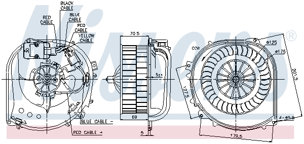 vnitřní ventilátor NISSENS 87100
