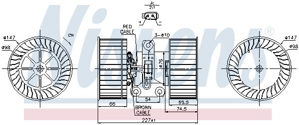 vnitřní ventilátor NISSENS 87114