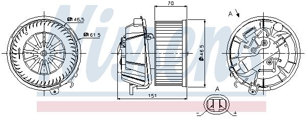 vnitřní ventilátor NISSENS 87127