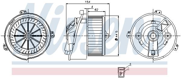 vnitřní ventilátor NISSENS 87129