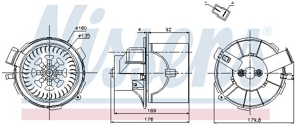 vnitřní ventilátor NISSENS 87138