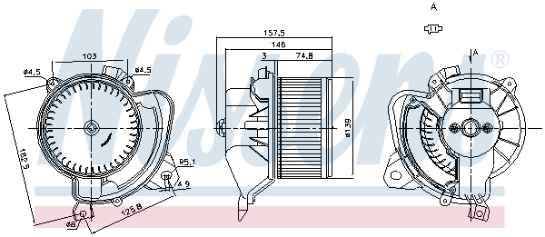 vnitřní ventilátor NISSENS 87243