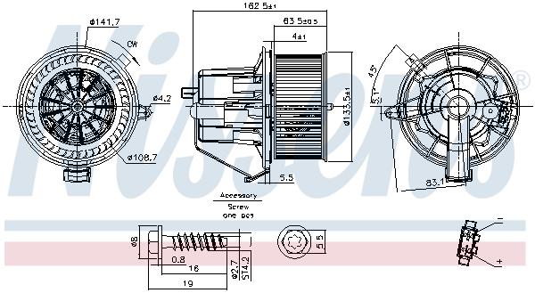vnitřní ventilátor NISSENS 87294