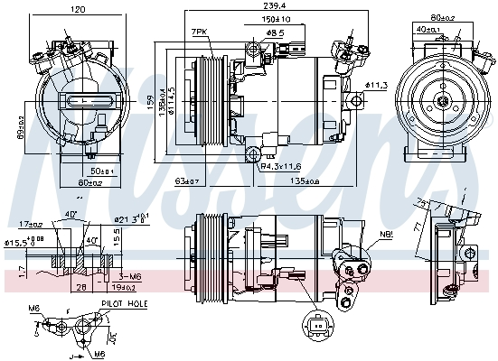 Kompresor klimatizace NISSENS 890015