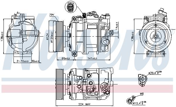 Kompresor klimatizace NISSENS 890025