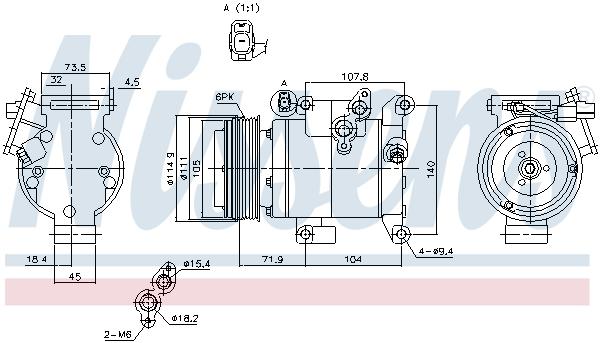 Kompresor klimatizace NISSENS 890045