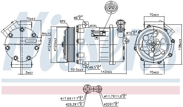 Kompresor klimatizace NISSENS 890063