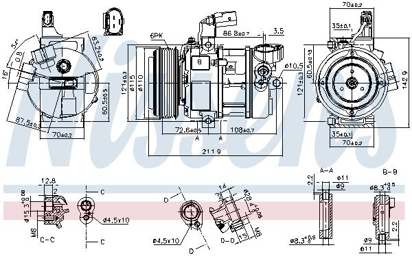 Kompresor klimatizace NISSENS 890087