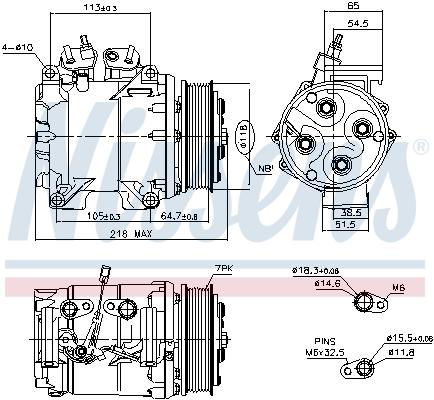 Kompresor klimatizace NISSENS 890128