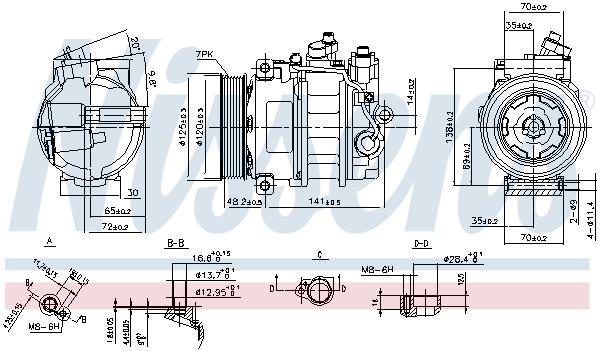 Kompresor klimatizace NISSENS 890140