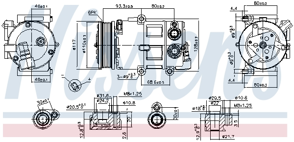 Kompresor klimatizace NISSENS 890179