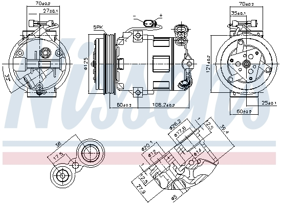 Kompresor klimatizace NISSENS 890185
