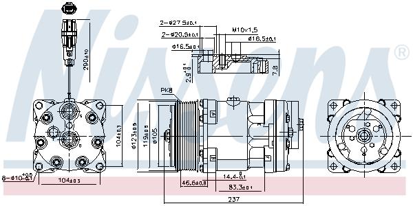 Kompresor klimatizace NISSENS 890193