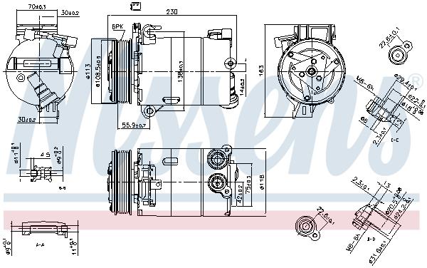 Kompresor klimatizace NISSENS 890213