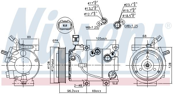Kompresor klimatizace NISSENS 890235