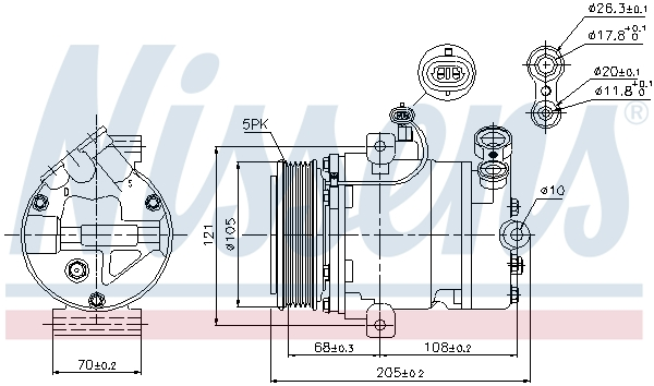 Kompresor klimatizace NISSENS 89024