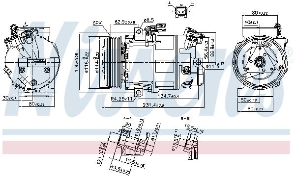 Kompresor klimatizace NISSENS 890297