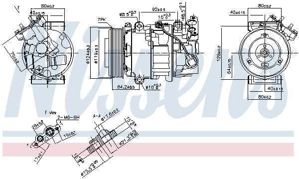 Kompresor klimatizace NISSENS 890299