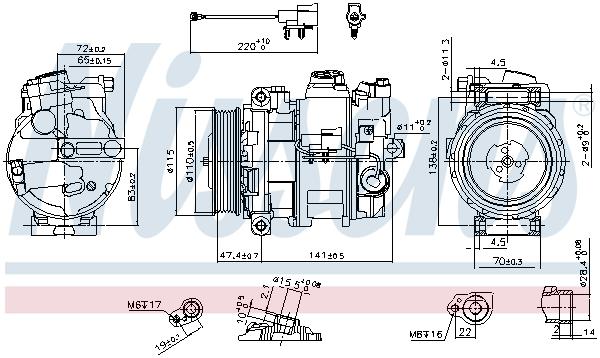 Kompresor klimatizace NISSENS 890306