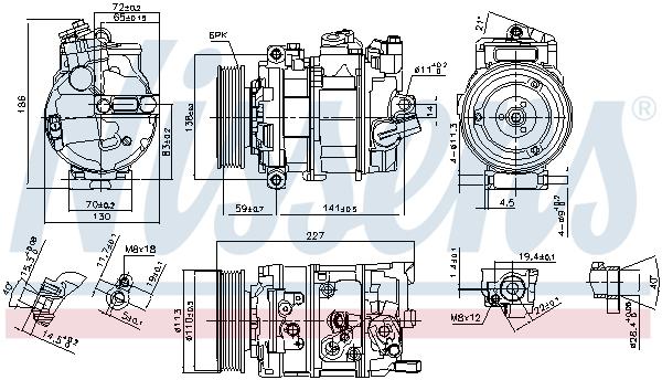Kompresor klimatizace NISSENS 890337