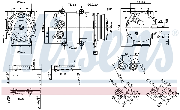 Kompresor klimatizace NISSENS 890392