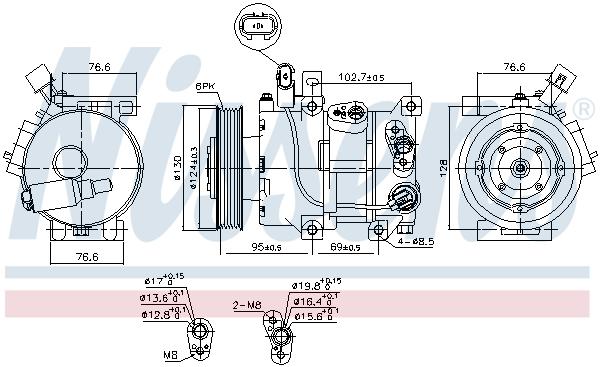 Kompresor klimatizace NISSENS 890425