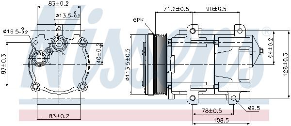 Kompresor klimatizace NISSENS 89046
