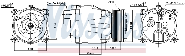 Kompresor klimatizace NISSENS 89048
