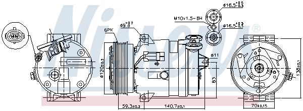Kompresor klimatizace NISSENS 89057