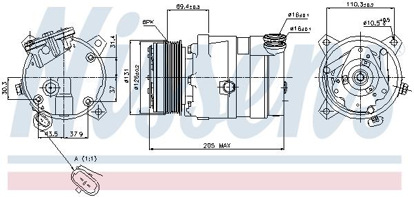 Kompresor klimatizace NISSENS 89062