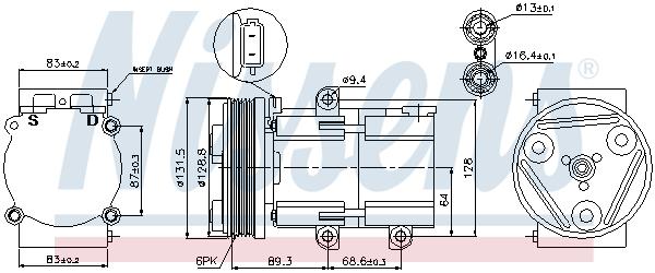 Kompresor klimatizace NISSENS 89068