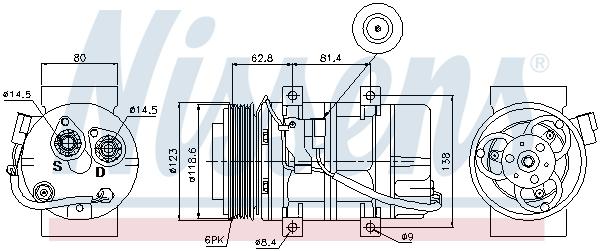 Kompresor klimatizace NISSENS 89069