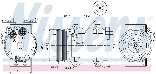 Kompresor klimatizace NISSENS 89070