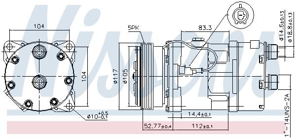 Kompresor klimatizace NISSENS 89123