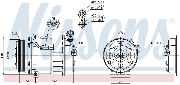 Kompresor klimatizace NISSENS 89124