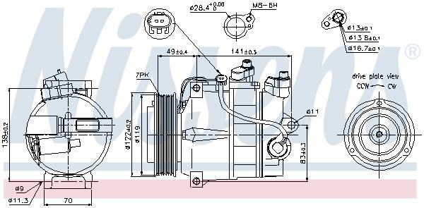 Kompresor klimatizace NISSENS 89200