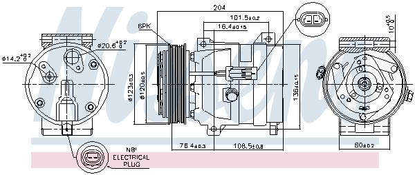 Kompresor klimatizace NISSENS 89217